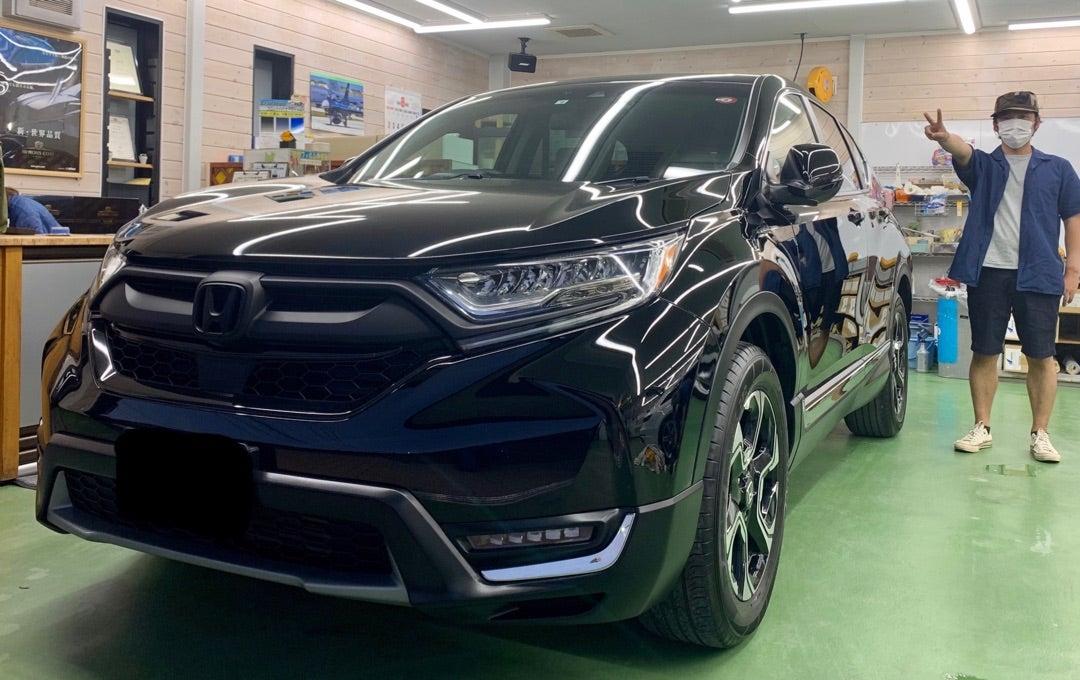HONDA CR-V 中古車 ハイドロフィニッシュ 施工