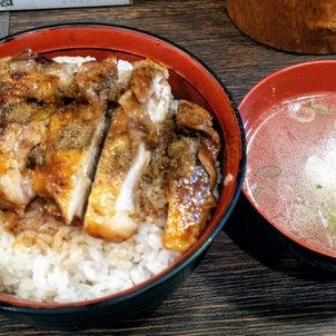 焼鳥丼とつくねスープの画像