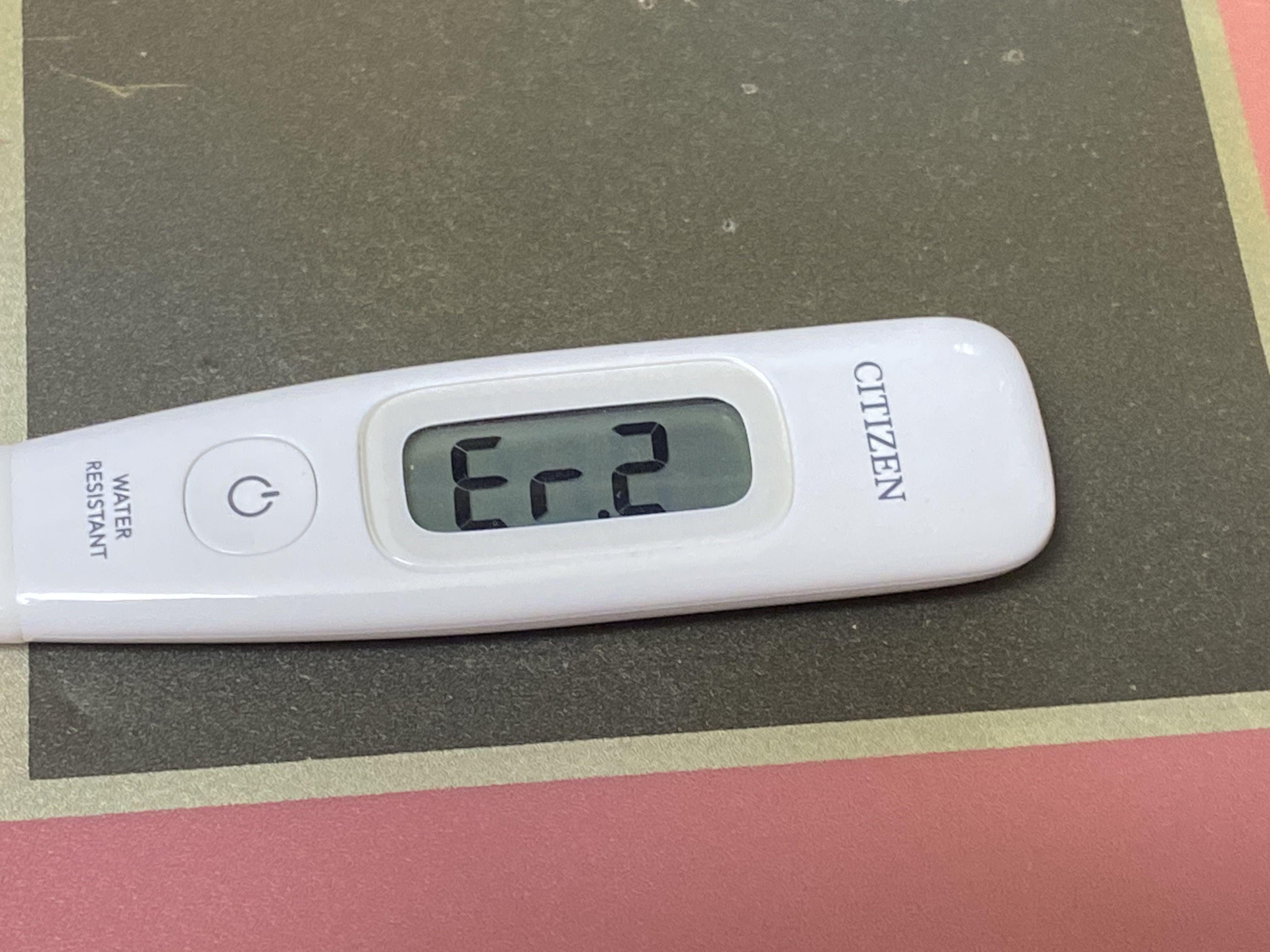 体温計 2 シチズン エラー