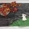季節の壁画作成~お月見~の画像