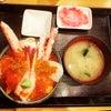ソーシャルディスタンスで海鮮丼の画像