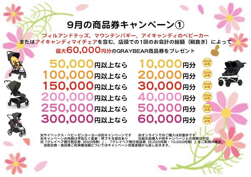店舗限定(麻布十番・代官山アドレス) 9月キャンペーンについて