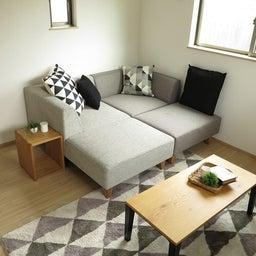 画像 マンションの家具の配置提案 ④ リビングと隣接する洋室とつなげて家具を配置!家具の配置換え提案も の記事より 7つ目