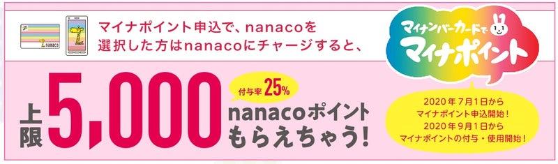 マイナ ポイント nanaco