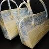 きれいな色合いの利休バッグ2020|銀撚箔波流水文様・八寸、九寸|西陣正絹帯地使用の和装バッグの画像