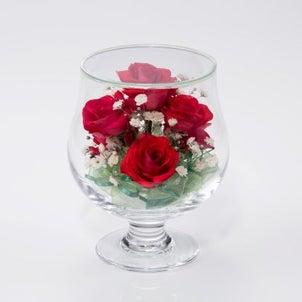 赤いバラをお誕生日にプレゼントの画像