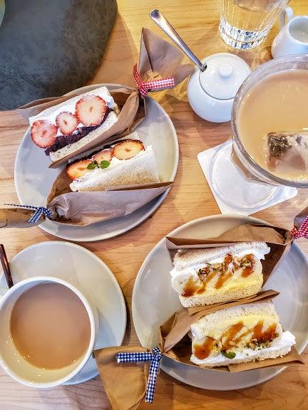 茶葉10倍のリッチなロイヤルミルクティーにフルーツサンド♪『Cafe&Space ココノヴァ』