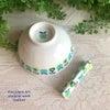 どこか懐かしい、アンティーク調のお茶碗&箸置き&ネックレスの画像