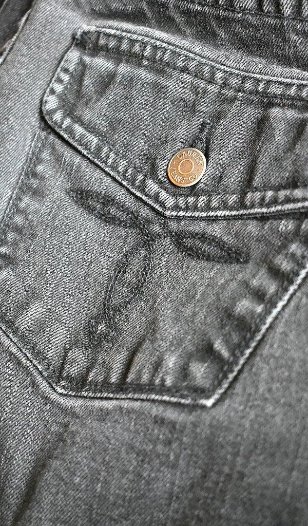 ブラックジーンズ黒デニムパンツ古着屋カチカチ