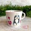 可愛いワンコだらけ、犬好きさん用スープマグカップの画像