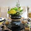テーブルフラワー回顧録の11…和洋折衷テーブルの画像