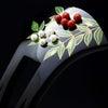 結婚式、おめでたい式典などにお勧めな縁起物のべっ甲南天雀金蒔絵かんざし2020・②|きれいな新緑の画像