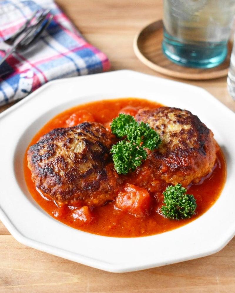 ハンバーグ 缶 煮込み トマト