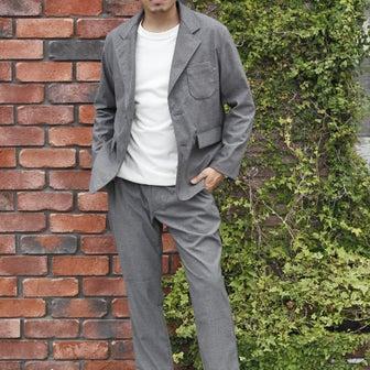 「Jackman」Stretch Jacket & Trousers [ヘリンボーン・グレー」