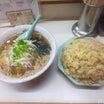 ラーメン大学 梅田店 「ラーメン(醤油)+焼めし」