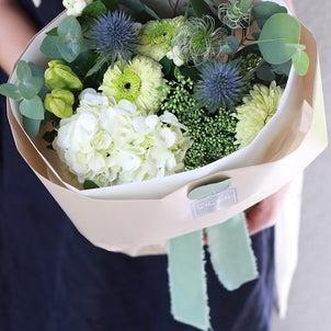 心落ち着く白グリーンの花々の画像