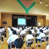 中学校で話し方講演会の画像