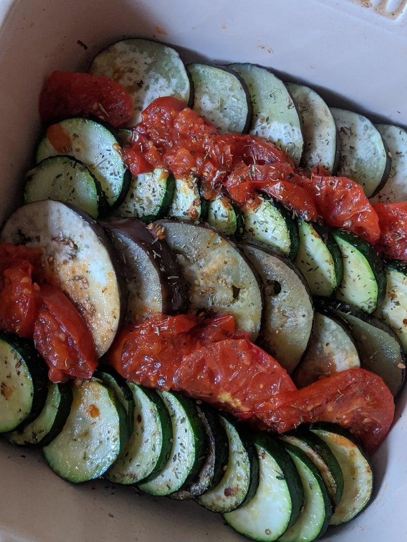 トマト ナス チーズ 焼き の と 彩り野菜のチーズ焼き 作り方・レシピ
