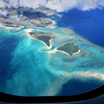 久米島の美ら海を空から撮影した!