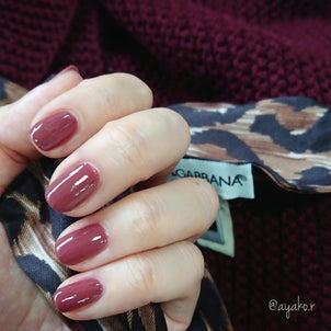 人に優しいzoyaネイルの葡萄色(mynail)の画像