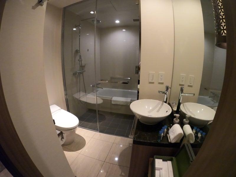 《ホテル ザ セレスティン銀座》スーペリアクイーン宿泊記 バスルーム