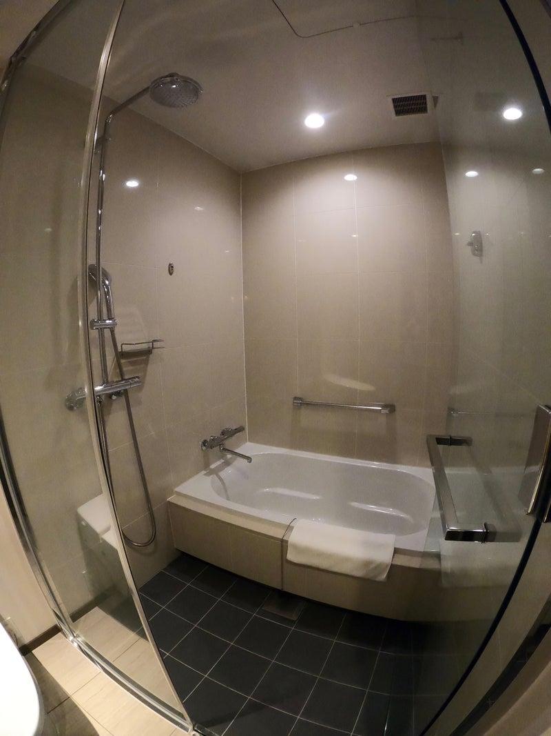 《ホテル ザ セレスティン銀座》スーペリアクイーン宿泊記 お部屋の洗い場付きバスルーム