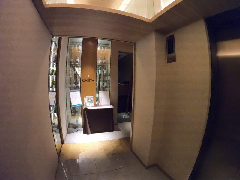 《ホテル ザ セレスティン銀座》スーペリアクイーン宿泊記 ホテル内レストラン銀座カシータ入り口