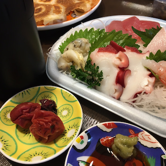 刺身と餃子とAmeba pickデビュー。