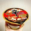 【韓国】新商品の辛ラーメンブラック豆腐キムチ。