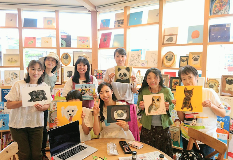 絵画教室@「つづきの絵本屋」 9/27~10/13♪金澤麻由子の絵本原画展スタート!