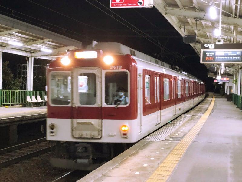 夜の近鉄電車のイメージ
