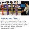 シンガポール航空がいろんなアクティビティを始めます。