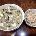 10月1日の夜ごはん、麻婆豆腐