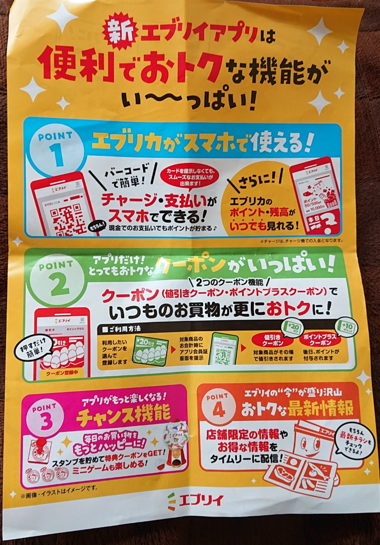 アプリ エブリイ スーパーマーケットのエブリイがオリジナル電子マネー付きポイントカード「エブリカ」を搭載したスマホアプリ「エブリイアプリ」をリリース