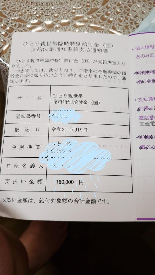 特別給付金 美穂ママのひとこと日記