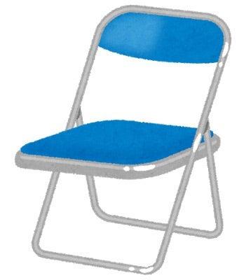 パイプ椅子待ち受け