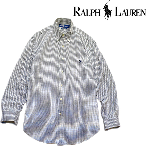 ラルフローレン長袖BDシャツ@古着屋カチカチ
