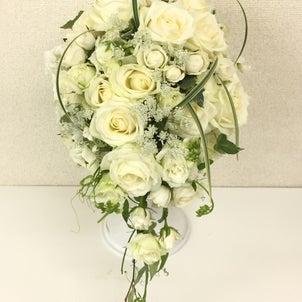白いお花メインのブーケの作品!の画像