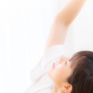 自律神経のバランスを整える深い呼吸の画像