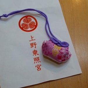 上野東照宮参拝とダリアのお守りの画像