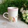 ミモザ✖️うさぎがぴったりな組み合わせ、さり気ない可愛さのココット付きマグカップの画像