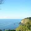 越前海岸の造形美と遥かなる水平線(福井県越前市)の画像