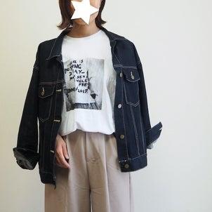 人とかぶらなさそう! NANING9の3000円台プリントTでシンプルコーデ♩の画像