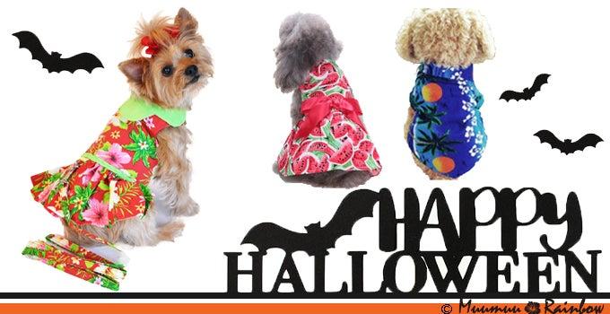 ペット用ムームー&アロハシャツは大人気のハロウィンのコスチューム