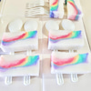 1日1アロマ様での虹の石けんのカット画像のご紹介♡の画像