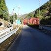 静岡県川根本町 大井川に架かる並行トラス橋・渡谷橋