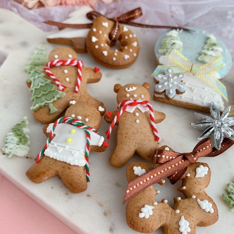 ジンジャーブレッド 大阪 アイシング 可愛い ジンジャーマン クリスマス クリスマスアイシング クリスマスお菓子