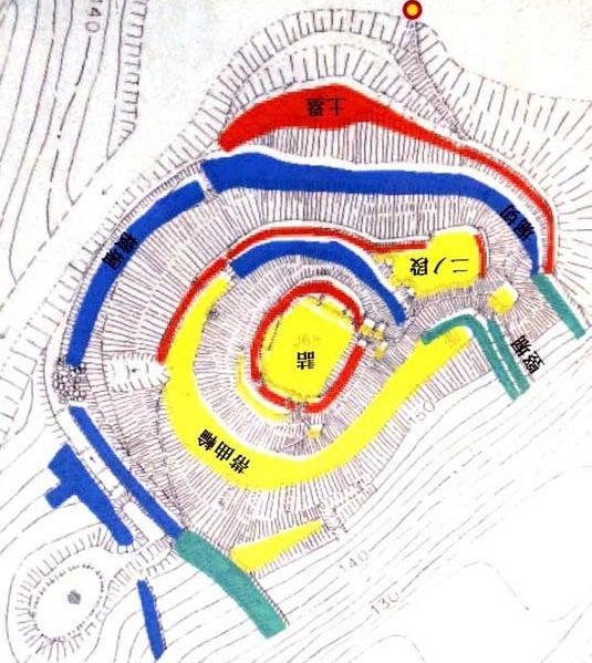 久礼田城【図(北を上に)】