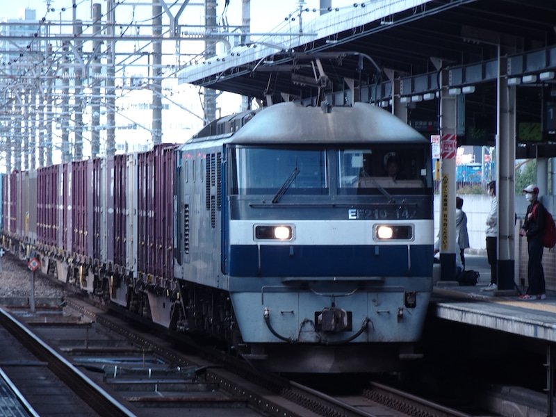 JR貨物 新習志野駅 EF210型 2020 1021 05