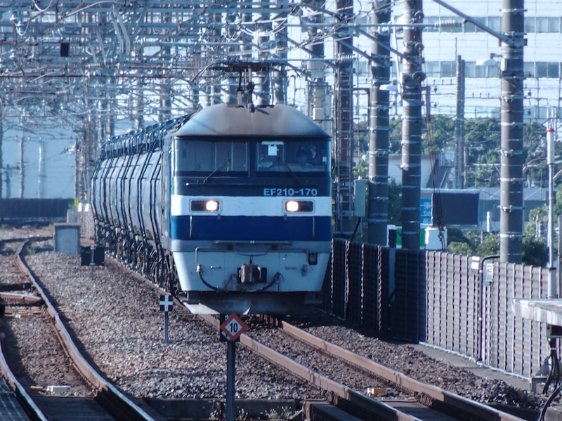 JR貨物 新習志野駅 EF210型 2020 1021 10